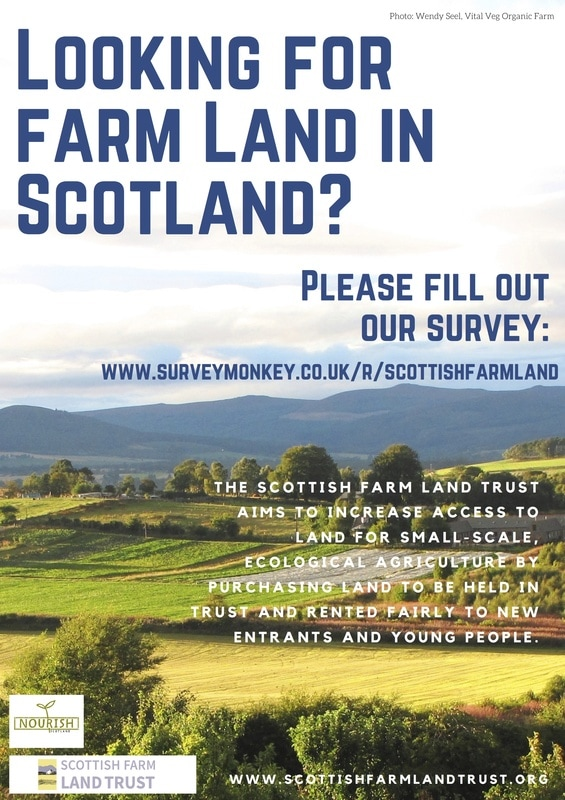 Scottish Farm Land Trust survey - https://www.surveymonkey.co.uk/r/scottishfarmland