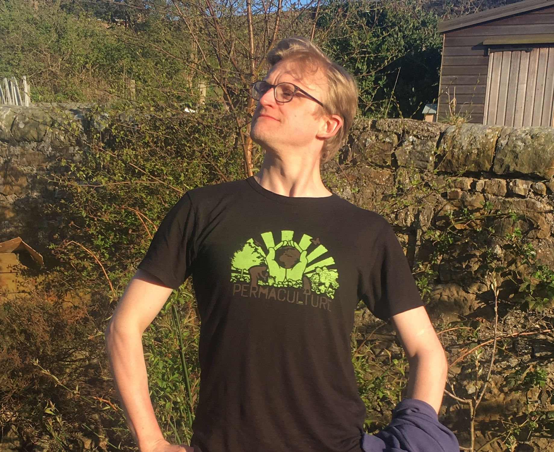 Permaculture Scotland T-shirt in black