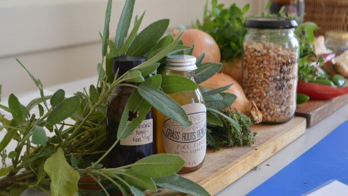 selection of herbal remedies